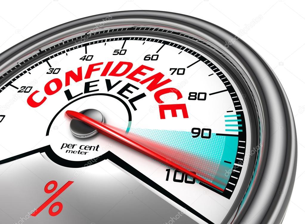 Confidence level percentage