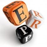 Erp orange black dice blocks — Stock Photo #25584189