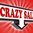 Stock Photo: Crazy sale money red and black arrow sign