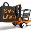 Safe lifting sign black weight — Stock Photo