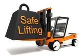 Safe lifting sign black weight — Stock Photo