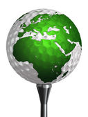 Europe and africa continent on golf ball — Stock Photo