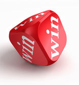 Win red dice — Stock Photo