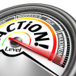 Action conceptual meter indicate maximum — Stock Photo