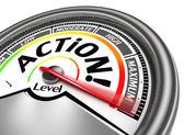 Action conceptual meter indicate maximum — Stock Photo
