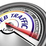 Web traffic conceptual meter — Stock Photo
