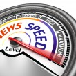 News speed conceptual meter — Stock Photo