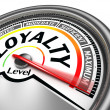 Loyalty level conceptual meter — Stock Photo