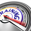 Training level conceptual meter — Stock Photo