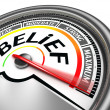 Belief conceptual meter — Stock Photo #32907369