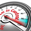 Stock Photo: I am in control conceptual meter