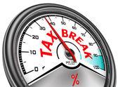 налоговые перерыв концептуальной индикатор — Стоковое фото