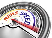 News speed conceptual meter — Stock Photo