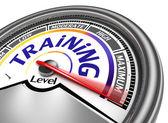 Training level conceptual meter — Stock Photo