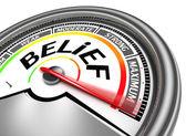 Belief conceptual meter — Stock Photo