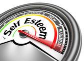 Self esteem conceptual meter — Stock Photo
