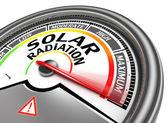 Solstrålning konceptuella nivåmätare — Stockfoto