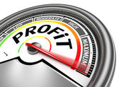 Profit conceptual meter — Stock Photo