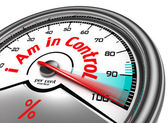 I am in control conceptual meter — Stock Photo