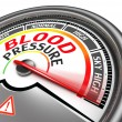 Stock Photo: Blood pressure conceptual meter