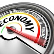 Economy conceptual meter — Stock Photo