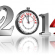 Happy new year 2014 clock — Stock Photo #32913061