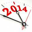 New year 2014 concept clock face — Stock Photo #32914519