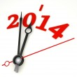 New year 2014 concept clock hands closeup — Stock Photo #32919223