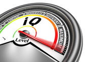 Iq conceptual meter — Stock Photo