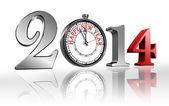 Frohes neues jahr 2014 uhr — Stockfoto