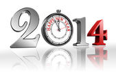 Happy new year 2014 clock — Stock Photo
