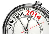 New year 2014 concept clock — Stock Photo