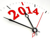 New year 2014 concept clock face — Stock Photo