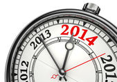 Year change 2014 concept clock — Stock Photo