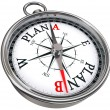 Plan b direction conceptual compass — Stock Photo #32921065