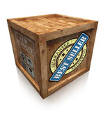 Best seller grunge sign on wooden box crate — Stockfoto