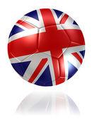 United Kingdom flag soccer ball — Stock Photo