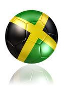 Jamaica soccer ball on white background — Stock Photo
