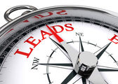 Leads conceptual compass — Stock Photo