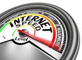 Internet speed conceptual meter — Stock Photo