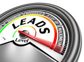 Leads conceptual meter  — Stock Photo