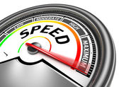 Speed conceptual meter — Stock Photo