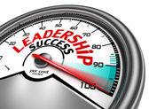 Przywództwo sukces pojęciowy miernik — Zdjęcie stockowe