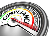 Compliance conceptual meter — Stock Photo