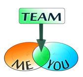 Me and you make a team — Stock Photo