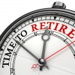 Time to retire concept clock — Stock Photo #9470347