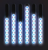 Equalizer glossy glowing track bar. — Stock Vector