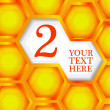 Royalty-Free Stock Imagem Vetorial: Honeycomb colorful background.