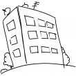 Block of flats in cartoon style. — Stock Vector #13286634