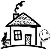 Maison des fées en style cartoon. — Vecteur